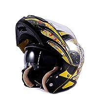 フリップアップヘルメット ヘルメット システムヘルメット ヘルメット フルフェイス ダブルシールド PSC付き  YHZ-109[商品09/M]