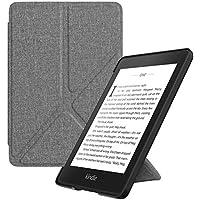 ATiC Amazon Kindle Paperwhite 2018 ケース Newモデル 第10世代用カバー オートスリープ機能付き 折り紙 スタンド 軽量 薄型 ヌノグレー
