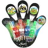 LEDフィンガーライト ハロウィーン子供 おもちゃ パーティーとコンサート用 光る指輪ライト 5pcsセット