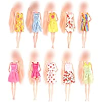 DSstyle Handmade Doll Clothes Dresses Outfit for Barbie Doll 28cm Xmas Christmas Gift 10 pcs