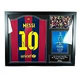 【All Star Signings】リオネル・メッシ 直筆サイン入りユニフォーム(FCバルセロナ 2015 UEFAチャンピオンズリーグ FINAL)&フォト 額入り