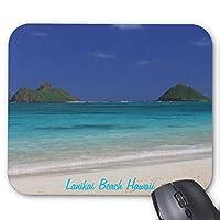 Recaso(レカソ)ラニカイのビーチのハワイ マウスパッド 敷き おしゃれ オフィス用 滑り止め 水洗い可能 優れた耐久性 天然ゴム+高品質な布 22x18cm