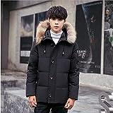 ダウンジャケット メンズ ダウンコート 冬 分厚い アウターコート フード付き 暖かい 防寒Glestore(グラストア)黒 L