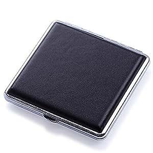 【la select】シガレットケース 黒 レザータイプ タバコ ケース ST [20本用]