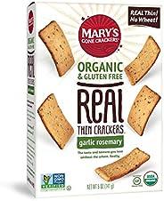 Mary's Gone Crackers Organic Real Thin Garlic Rosemary Crackers 141 g, 141 g