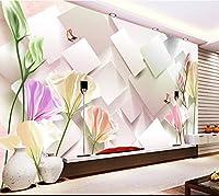 Sproud カスタム 3D 写真の大きな壁画がカスタムリビングルームの Tv のソファの背景の壁紙の壁紙の壁画が印象的シンプルなヨーロッパスタイルの 3D ステレオ 400 Cmx 280 Cm