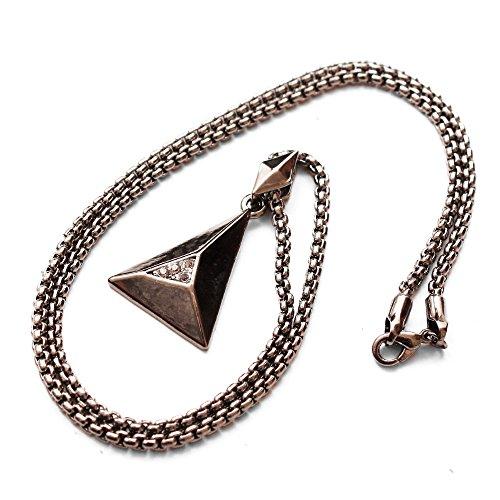[해외]목걸이 남자 체인 간단한 트라이앵글 라인 스톤 여성 유니섹스/Necklace Men`s Chain Simple Triangle Rhinestone Ladies Unisex