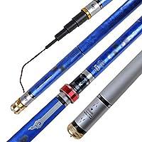 CYO 青い釣り竿、超軽量スーパーハード28カーボン釣り道具4.5.4.8 M 5H長いセクション (Size : 4.5)