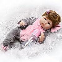 scdoll Rebornベビー人形、16インチ40 cm Lifelike Vinylシリコン新生児幼児人形青い目Play Houseおもちゃクリエイティブギフト