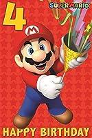 Super Mario 4th誕生日カード