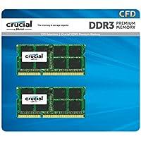 CFD販売 ノートPC用メモリ PC3L-12800(DDR3L-1600) 4GB×2枚 / 240Pin / 1.35V/1.5V両対応  無期限保証 / Crucial by Micron / W3N1600CM-4G