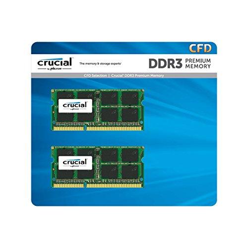 CFD販売 ノートPC用メモリ PC3L-12800(DDR3L-1600) 8GBx2枚 1.35V/1.5V両対応 無期限保証(Crucial by Micron) W3N1600CM-8G