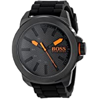 HUGO BOSS Orange Men's 1513004 New York Black Stainless Steel Watch