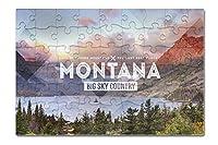 Big Sky Countryモンタナ–ラバースタンプ( 8x 12プレミアムアクリルパズル63ピース)