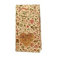 ヘイコー 紙袋 窓付 SS ハートポップ 9x5x17.5cm 50枚