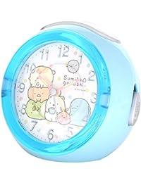 すみっコぐらし 目覚まし時計 LEDクロック 4曲メロディアラーム ドット ブルー