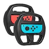KetenTech Nintendo Switch Joy-Con ハンドル セット 2個セット レースゲーム マリオカート8 デラックス 任天堂 精確対応 敏感操作 ニンテンドースイッチ ジョイコン