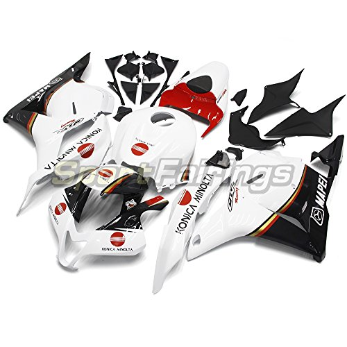 Sportfairings オートバイ バイク外装パーツ 適合 ホンダ Honda CBR600RR CBR600 RR F5 09 10 11 12 2009-2012 年 白赤 フルカウルセット