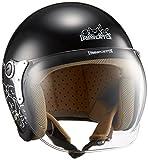 ダムトラックス(DAMMTRAX) バイクヘルメット ジェット CARINA P.BLACK-DOG レディースフリー(57~58cm)