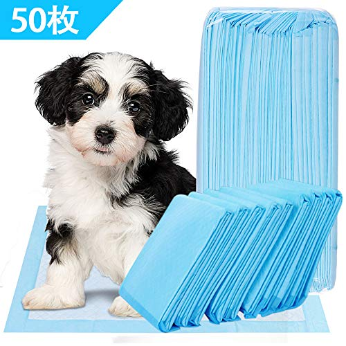 DAMIGRAM ペットシーツ トイレシート ペット用品 使い捨て 猫 犬用 消臭シート 漏れ防止 通気 強力吸水 45×60CM 50枚入り