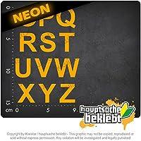 ABC自己接着性セット1 O-Z ABC self-adhesive Set 1 O-Z 15cm x 10cm 15色 - ネオン+クロム! ステッカービニールオートバイ
