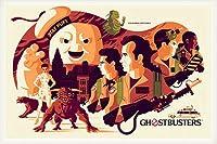 ポスター トム ウェイレン Ghostbusters ゴーストバスターズ 限定375枚 手書きナンバリング入り 額装品 ウッドベーシックフレーム