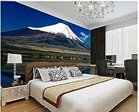 Wapel 3 次元のバスルームの壁紙の雪の山のリビングルームの背景壁写真壁画壁紙ホームデコレーション 絹の布 180x130CM