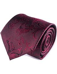 ネクタイワインレッド ネクタイ シルク ネクタイ ペイズリー 赤 ネクタイ チェック柄 シルク ネクタイ ペイズリー レッド ネクタイ ラッピング 箱 ギフト 男性用 感謝の贈り物