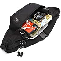 Fanny Pack for Women & Men Unisex Waist Bag Pack with Headphone Jack and Zipper Adjustable Strap Black Fanny Pack for Outdoors Sport Workout Traveling Casual Running Hiking Cycling Gym,Chest Sling Bag,Sling Hip Bum Bag