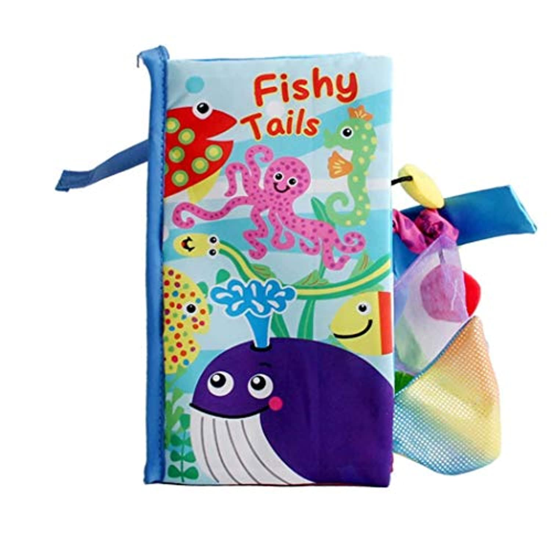 Kaluo 赤ちゃん用タッチクロス 本 動物尾 感覚刺激 早期教育玩具 形&色分け。 12x22.5cm KLVM034040_2*