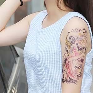 ボディーアート タトゥーシール 奇妙な波と鯉 Sticker Tattoo - StickerCollection