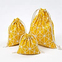 shopparadise 巾着袋 3点セット(大中小) 小物収納ポーチ 旅行出張用収納バッグ 小物 シンプル