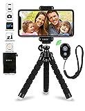 UBRU スマホ用三脚 ミニ Goproアクセサリー iPhone スマホとカメラ対応 三脚+固定 ホルダー+Bluetooth無線シャッターリモコン3点セット 調節可能