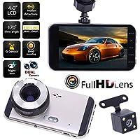 YouN 1080P車DVRデュアルレンズカメラビデオレコーダーリアビューダッシュカムGセンサー