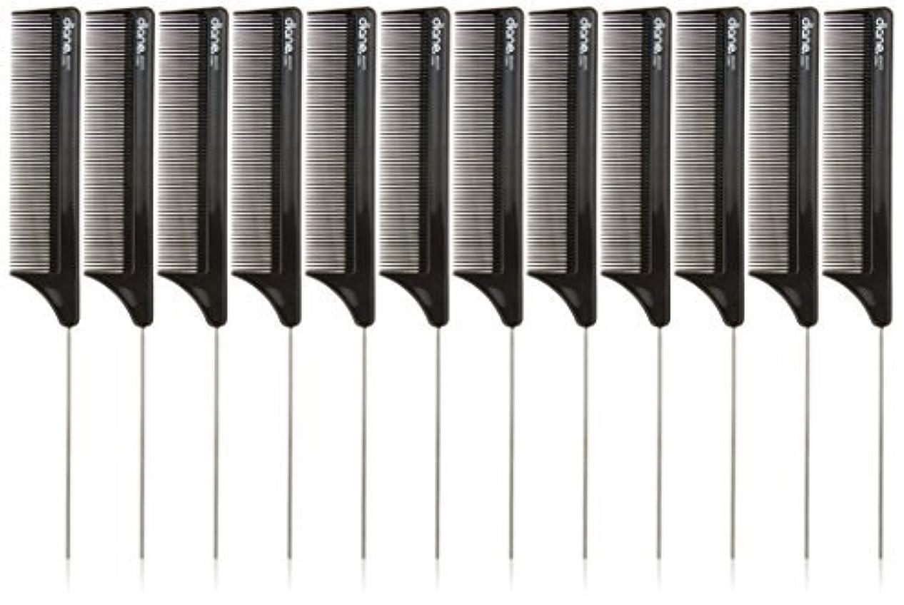 記事繕う思いつくDiane Pin Tail Comb Dozen, Black, 8.25 Inch [並行輸入品]