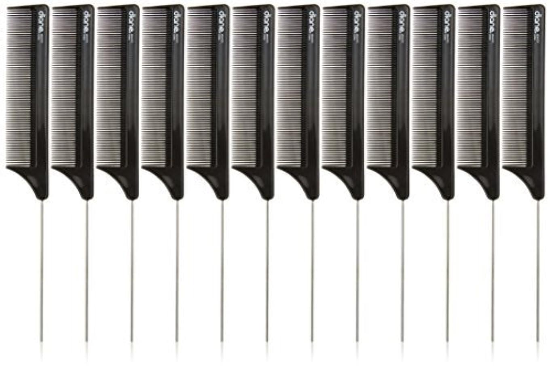 情報宿泊アボートDiane Pin Tail Comb Dozen, Black, 8.25 Inch [並行輸入品]