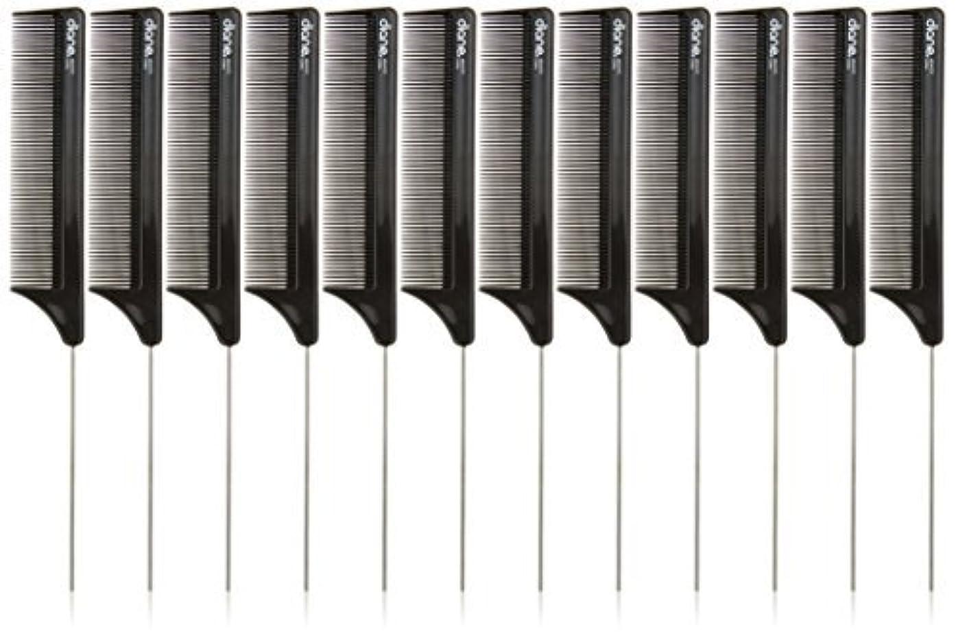 突破口蒸気大胆なDiane Pin Tail Comb Dozen, Black, 8.25 Inch [並行輸入品]