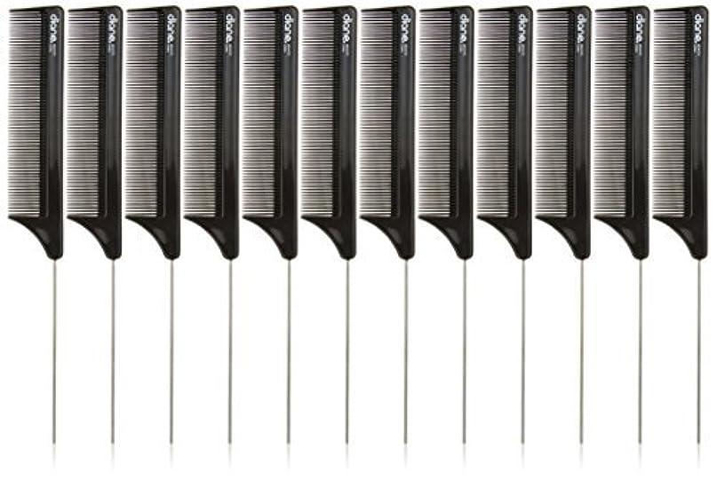非効率的な準拠スピーチDiane Pin Tail Comb Dozen, Black, 8.25 Inch [並行輸入品]