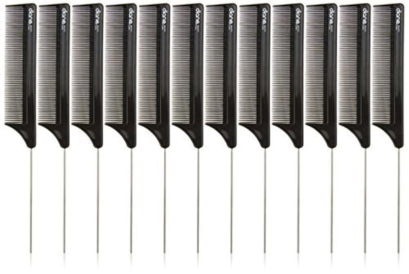 短くする隣接連鎖Diane Pin Tail Comb Dozen, Black, 8.25 Inch [並行輸入品]