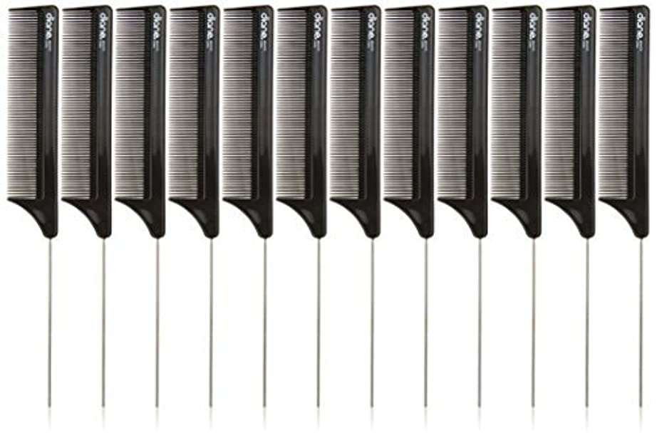 有名反乱因子Diane Pin Tail Comb Dozen, Black, 8.25 Inch [並行輸入品]