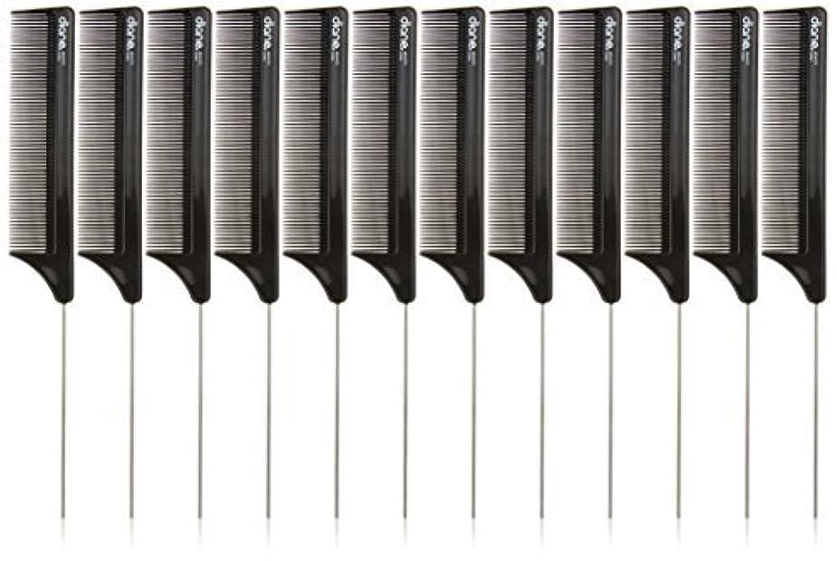 経由でマージン生じるDiane Pin Tail Comb Dozen, Black, 8.25 Inch [並行輸入品]