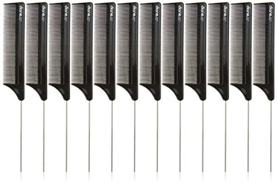 シャベルバウンスごみDiane Pin Tail Comb Dozen, Black, 8.25 Inch [並行輸入品]