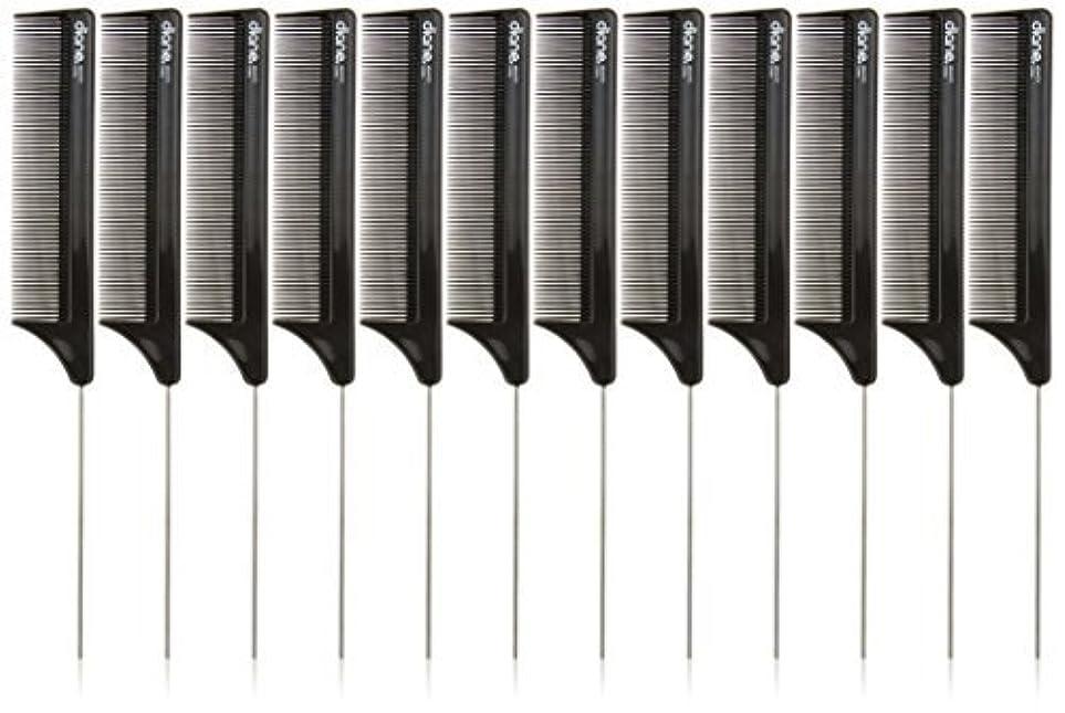 綺麗なトロイの木馬叱るDiane Pin Tail Comb Dozen, Black, 8.25 Inch [並行輸入品]
