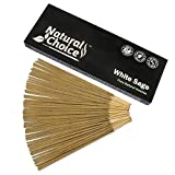 Natural Choice Incense White Sage Incense Sticks 100 Grams, Low Smoke Traditional Incense Sticks Made from Scratch, Never Dipped