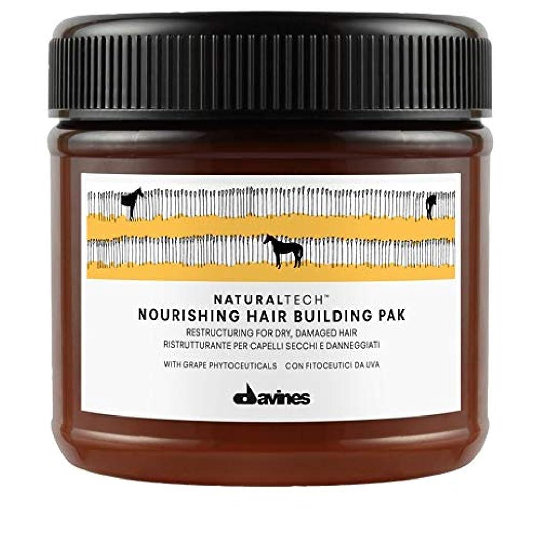 市場重くするコントロール[Davines ] Pak 250ミリリットルを構築ダヴィネス栄養髪 - Davines Nourishing Hair Building Pak 250ml [並行輸入品]