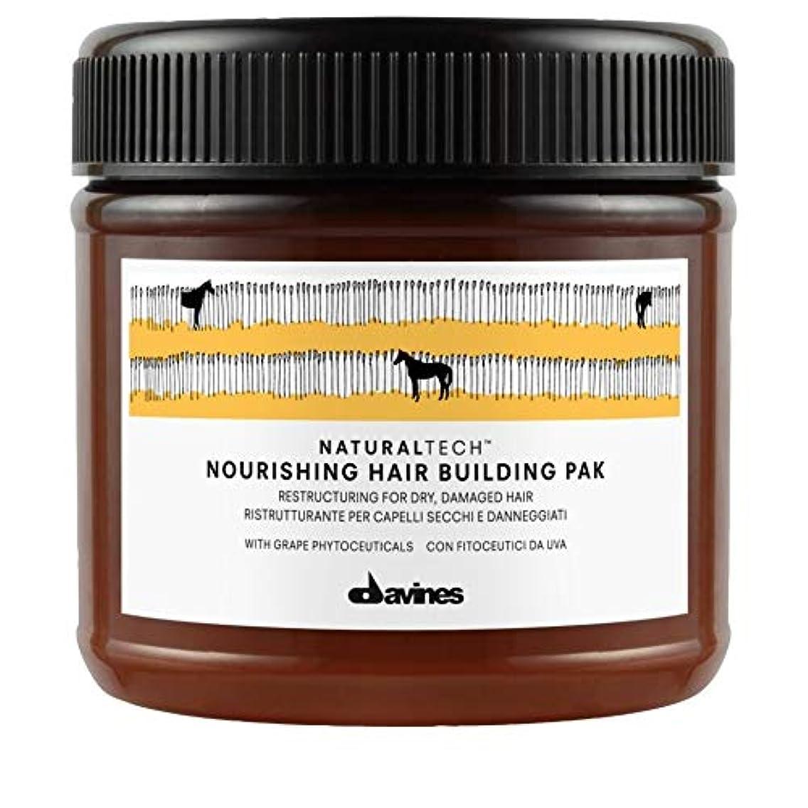 海藻泣き叫ぶシロクマ[Davines ] Pak 250ミリリットルを構築ダヴィネス栄養髪 - Davines Nourishing Hair Building Pak 250ml [並行輸入品]