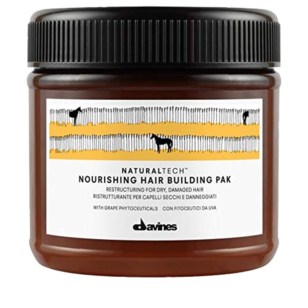 精緻化アドバンテージ添加剤[Davines ] Pak 250ミリリットルを構築ダヴィネス栄養髪 - Davines Nourishing Hair Building Pak 250ml [並行輸入品]