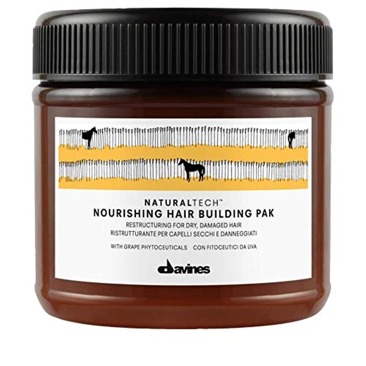 きらきら雷雨完了[Davines ] Pak 250ミリリットルを構築ダヴィネス栄養髪 - Davines Nourishing Hair Building Pak 250ml [並行輸入品]