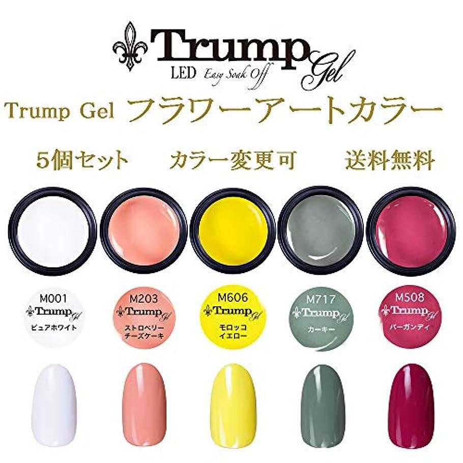 シチリア靄配列【送料無料】Trumpフラワーアートカラー選べる カラージェル5個セット