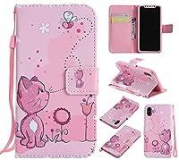 Lomogo iPhone Xケース 手帳型 耐衝撃 PU レザーケース 財布型 カードポケット スタンド機能 マグネット式 アイフォンX手帳型ケース カバー 人気 - LOKTU20056 #6